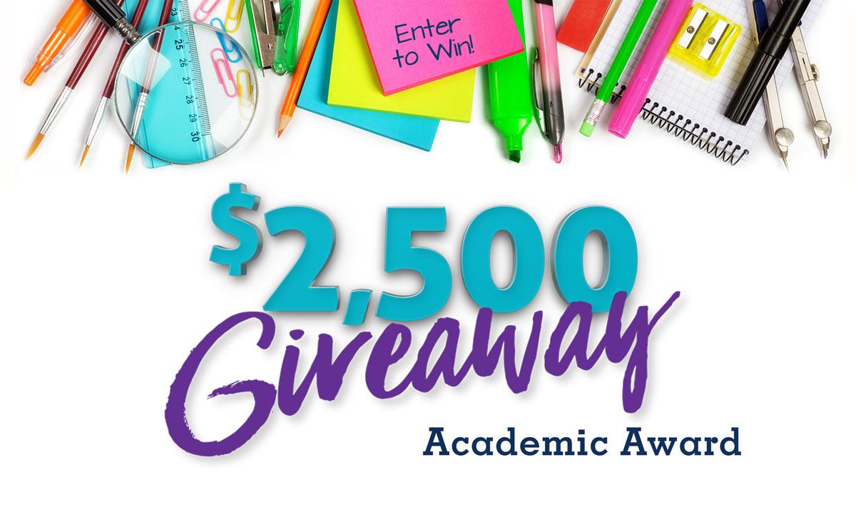 $2,500 Academic Award