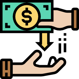 two hands with a dollar bill icon made by Eucalyp from www.flaticon.com